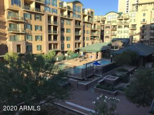 View of pool/spa area from units balcony