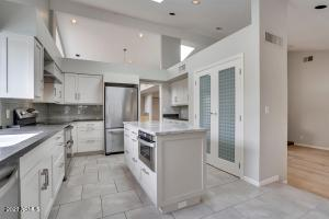 Remodeled Kitchen with vaulted ceilings