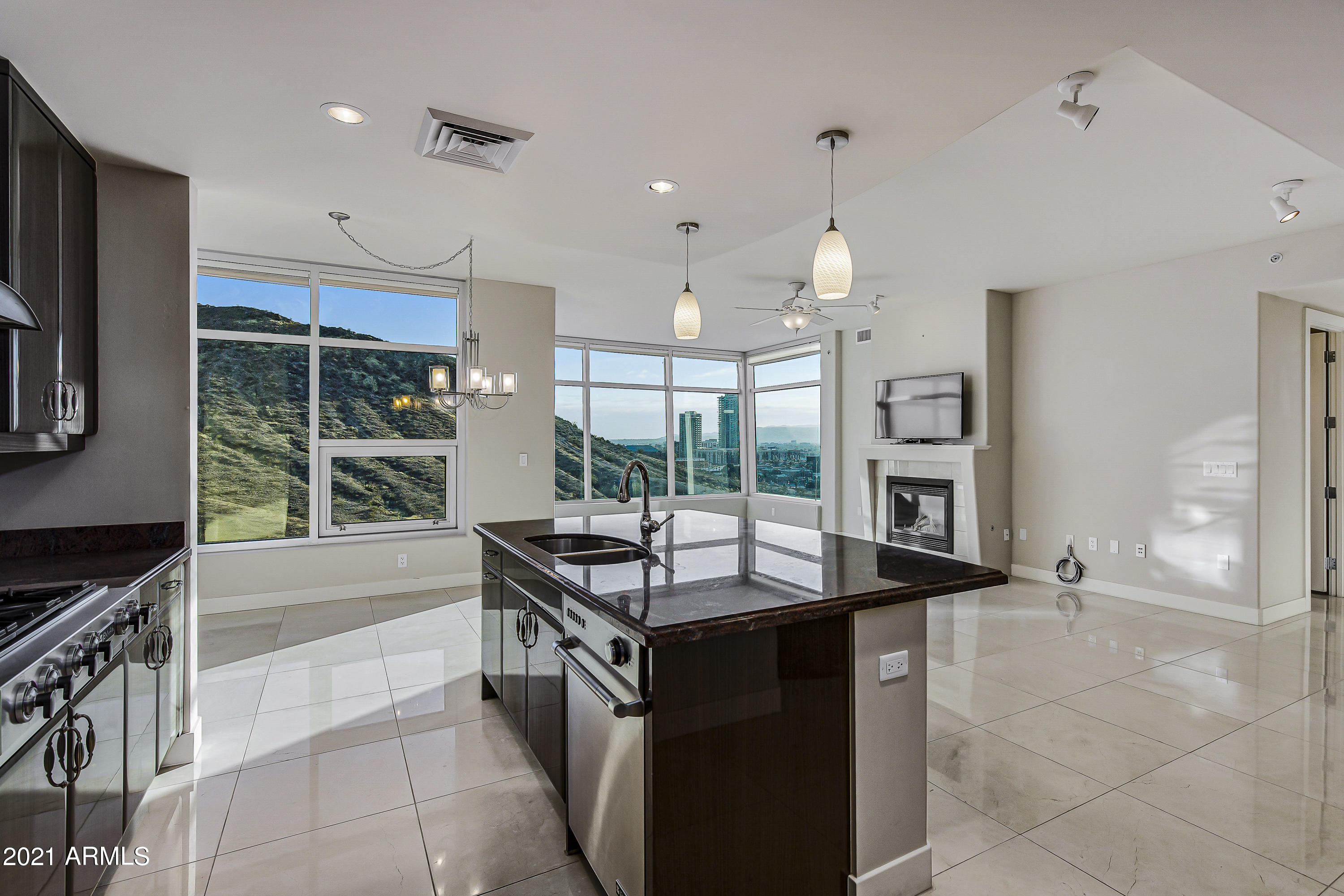 Great Room, Dining, Kitchen View A