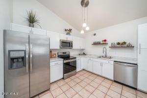Fresh, bright remodeled kitchen.