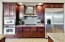 Full Kitchen with Cherry Wood Cabinets & SS Appliances