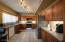 with granite countertops and lots of cabinet space