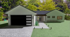 Rendered Front Yard