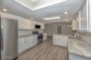 Beautifully updated kitchen with stainless steel appliances. You will love this kitchen!