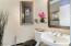 1st Bathroom by Stairs 1/2 bath