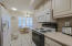 GAllEY KITCHEN WHITE APPLIANCES BUILT IN MICROWAVE