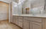 You'll love the master bath, with dual sinks and large mirror