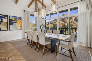 Formal dining with Camelback views