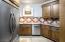 Back kitchen with plenty of extra storage