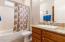 Guest bath w/granite countertop