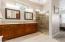 Double Sinks w/granite countertops/walk-in shower