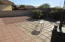 Large Back Yard with extended brick patio.
