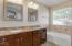 Granite counters, picture mirrors