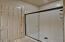 This 3/4 bath is privately located near side entry hall with easy access from the Media Room (or convert to 5th bedroom)