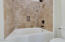 Guest Bath Travertine Tile Shower