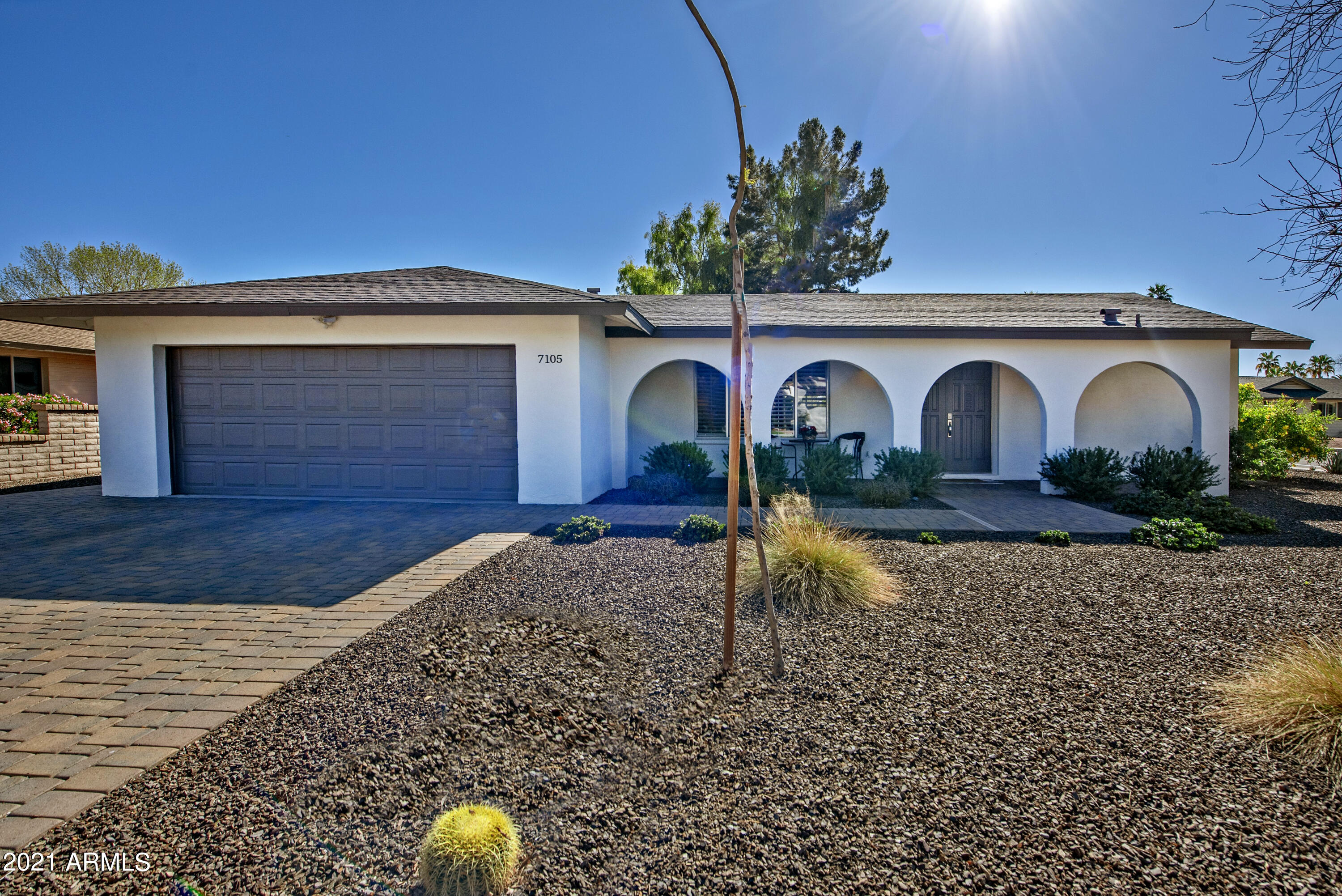This beautifully updated home offers the very best in McCormick Ranch living - a quiet and meticulously maintained neighborhood, nearby parks and walking trails, great local dining and shopping, and easy access to Loop 101 freeway, Talking Stick Resort, and Old Town Scottsdale! The stunning interior features are sure to please the modern buyer and include an open concept, 2 living spaces, white shaker-style cabinetry, granite countertops, subway tile backsplashes, stainless steel appliances, and timeless wainscoting. The home sits on an oversized corner lot, making the backyard incredibly spacious and perfect for entertaining guests. Enjoy a lengthy covered patio w/ mist system, a fenced Pebble Tec pool, and low maintenance turf. Ample storage, spacious master with walk-in closet and more!