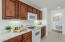 Under-cabinet lighting for beautiful kitchen ambiance.