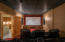 This professionally done screening room provides a high quality movie experience.