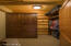 There are two large walk in closets providing plenty of storage space.