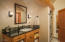 The sink was painted by an artist specifically for this home.