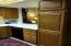 Large storage cabinets in the kitchen. Remember, you will be enjoying gourmet meals in the dining as well.