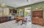 Large Open Kitchen with Professionally Stained Cabinetry