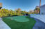 Top of the line materials used in this professional quality putting green.