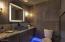 Beautiful powder room captures the mood!