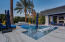Custom painted pool decking to add splash!