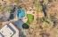 Drone shot of main house backyard