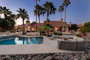 A resort style backyard.