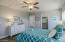 Ceiling fans with separate light/fan controls in all 3bedrooms