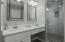 2 separate vanities in master bath, one with make-up area