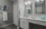 Privacy door between master bath and master bedroom
