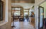 Flagstone entry, French doors into Den/Office