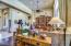 Living room has gorgeous hardwood flooring