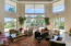 Living room with view of Camelback mountain