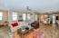 Wood look tile flooring throughout main living