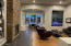 Formal living/dining with gas fireplace