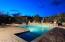 Nighttime Pool and Spa