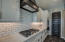 Subway tile back splash, gas cooking and tons of cabinet space