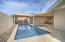 large baja step in pool - perfect for lounge chairs