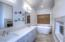 Large master bath, Quarter Countertops and free standing tub