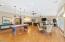 Floor to ceiling windows and doors. Open the doors to blend the indoor with the outdoor.