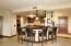 Gourmet kitchen with breakfast bar and center island