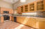 Light and bright kitchen with ample cabinet room.