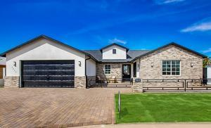 Actual front photo of completed home.