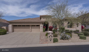Beautiful curb appeal. Located within the intimate gated community of Carino Canyon.