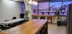 Kitchen is situated with great views and next to the gym.