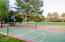 Sport Court with basketball hoop, net for tennis & volleyball